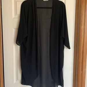 Tops - Sheer black kimono